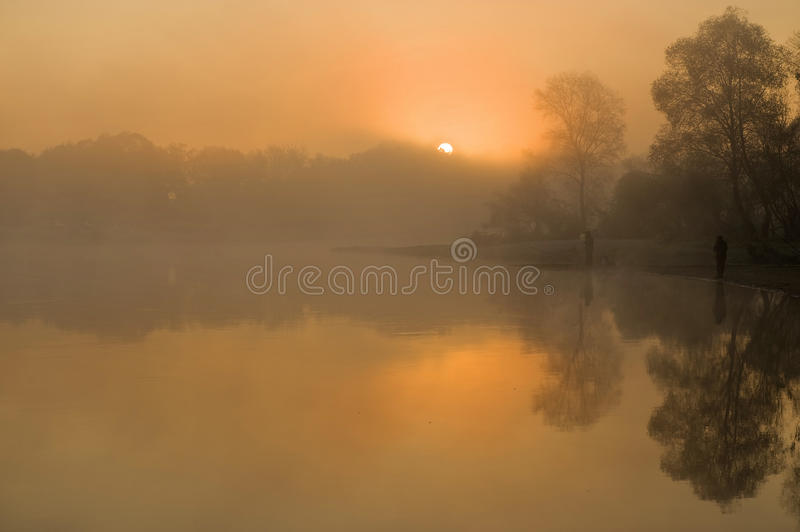 Download Sunrise on the river stock image. Image of grow, climacteric - 21745919