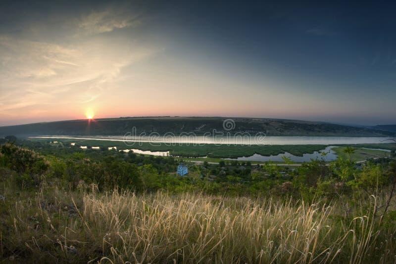 Download Sunrise on river stock photo. Image of beam, scene, gold - 29972180