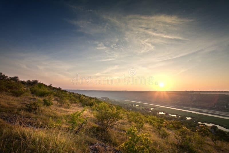 Download Sunrise on river stock image. Image of background, horizon - 29972477