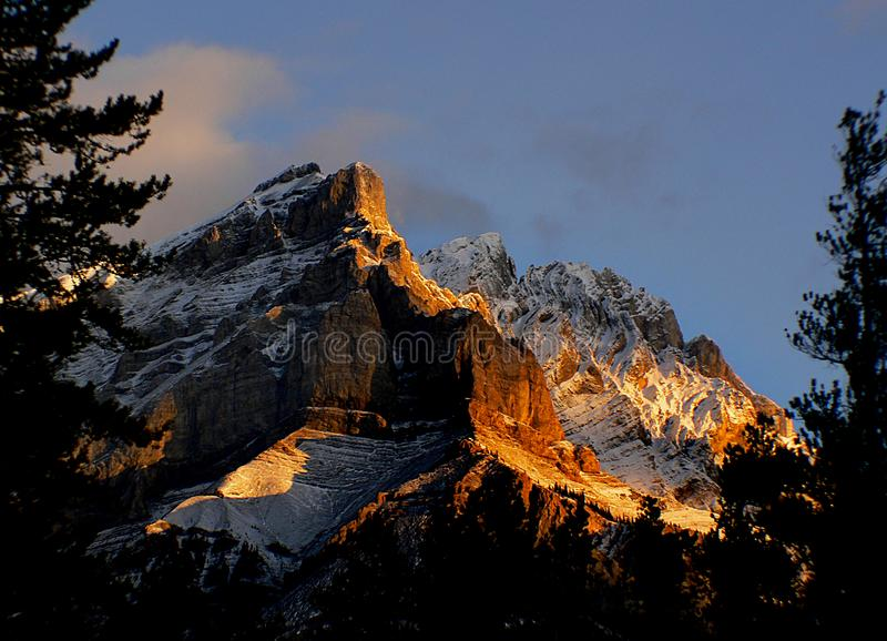 Sunrise in the Rockies. stock image