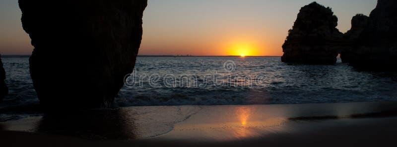 Download Sunrise and rocks stock image. Image of rocks, atlantic - 27820551