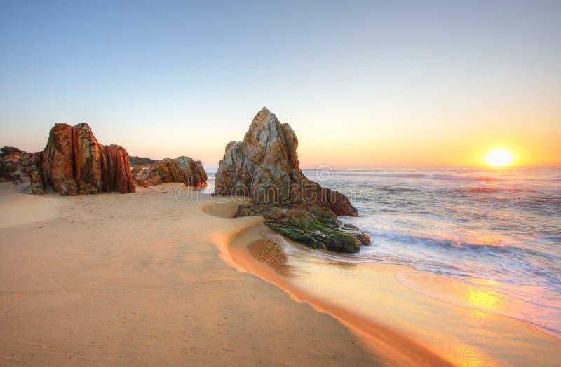 Sunrise Rocks stock photography