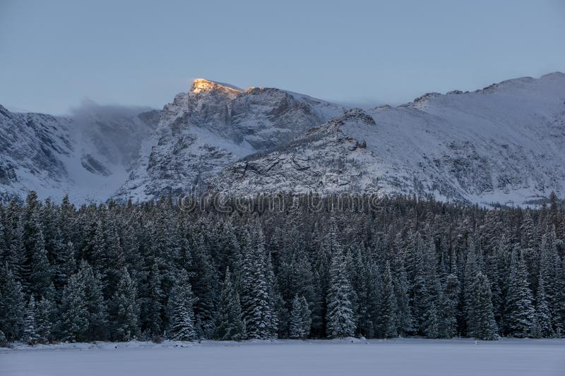 Sunrise in Rocky Mountain National Park royalty free stock image