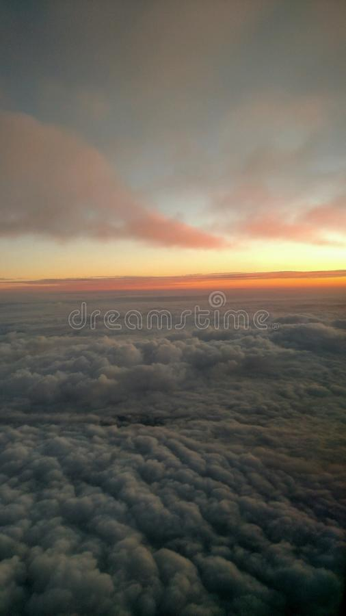 Sunrise with rolling clouds stock photo
