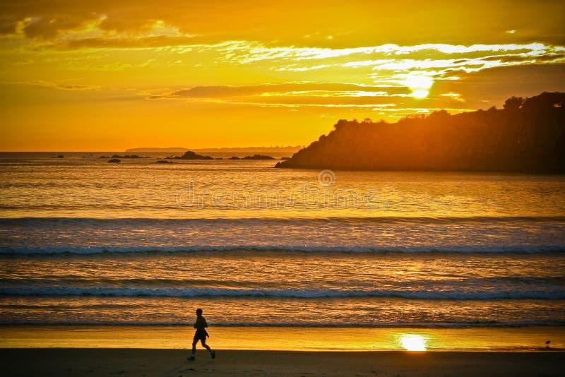 Sunrise runner stock image