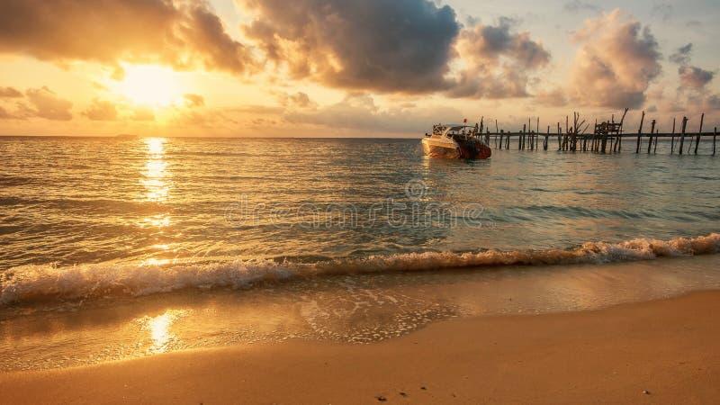 Sunrise on Samed island stock photo