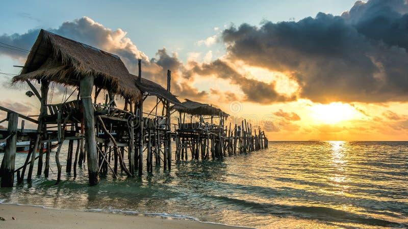 Sunrise on Samed island stock photos