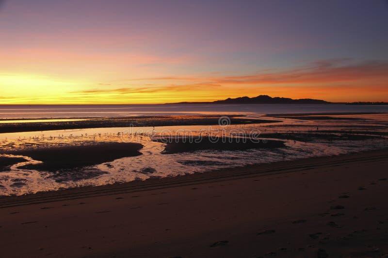 Sunrise in San Felipe, Baja California royalty free stock images
