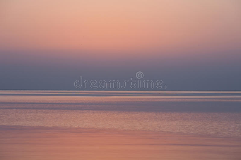 Download Sunrise on the sea stock image. Image of silence, evening - 16129905