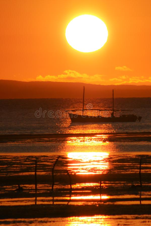 Sunrise on the sea. royalty free stock image