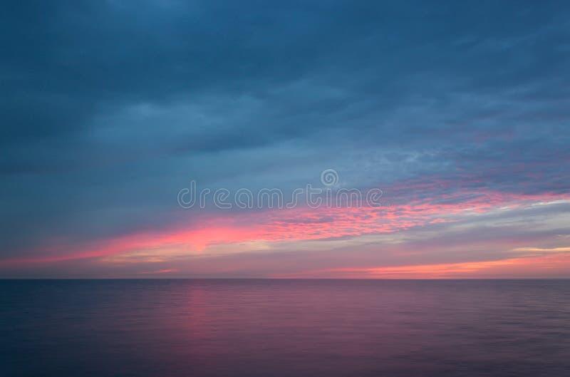 Download Sunrise on the sea. stock image. Image of ripple, blue - 28487587