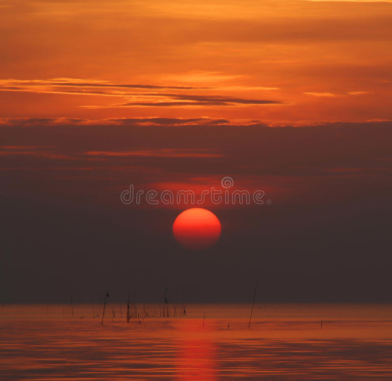 Download Sunrise on the sea stock image. Image of beach, colorful - 29300471