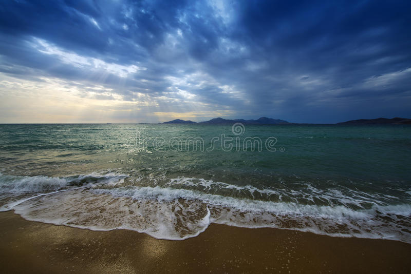 Download Sunrise and sea stock photo. Image of sand, morning, beach - 31468146