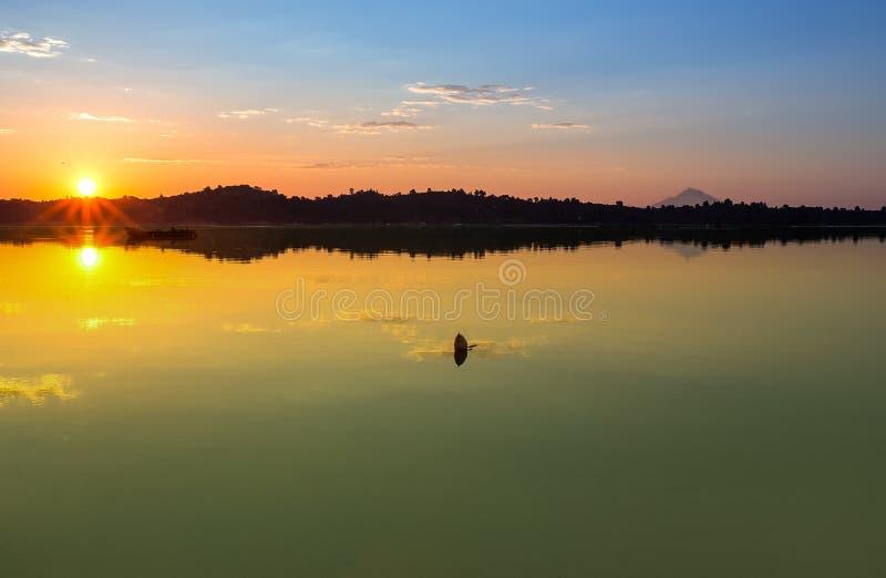 Sunrise at the sea. Halkidiki, Sithonia royalty free stock photo