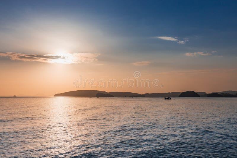 Sunrise at the sea. stock photo