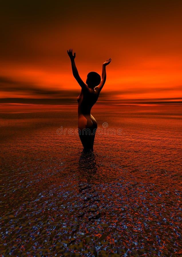 Sunrise, Sea, Sun, Horizon royalty free stock images