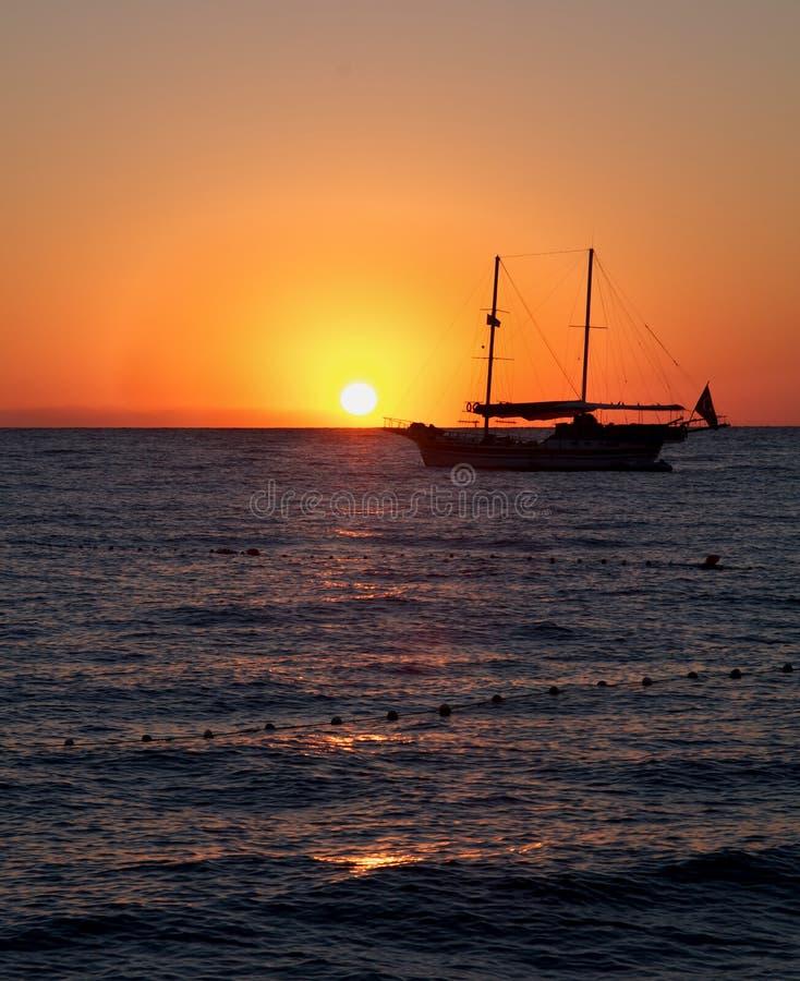 Download Sunrise Seascape stock image. Image of ripple, side, orange - 26958519