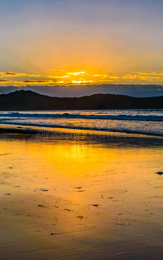 Download Sunrise Seascape And Crepuscular Rays Stock Photo - Image: 90029142