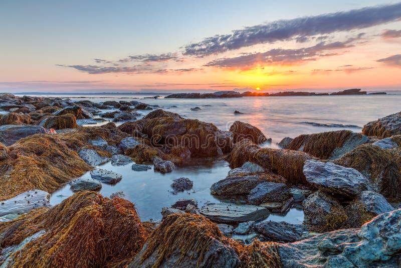 Rocky Sunrise Seascape stock image