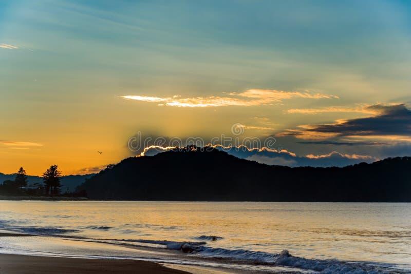Download Sunrise Seascape stock photo. Image of ocean, silhouette - 92624668