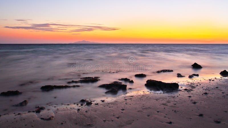The sunrise at the beach