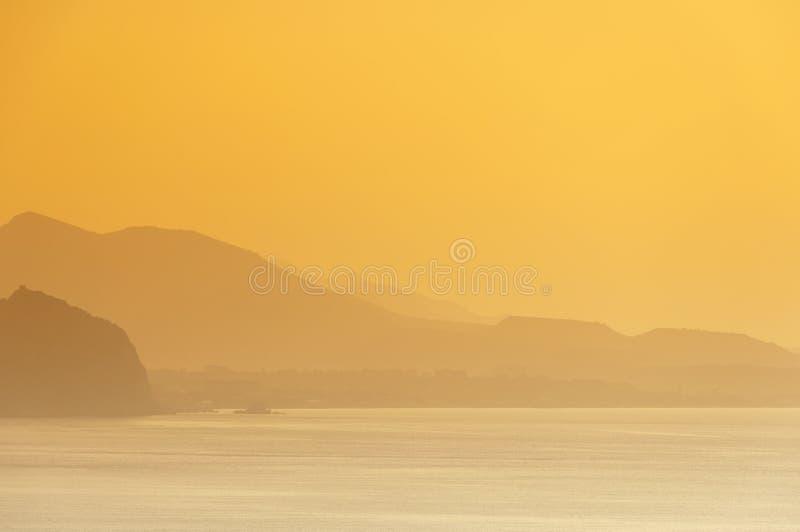 Sunrise at seaside royalty free stock photography