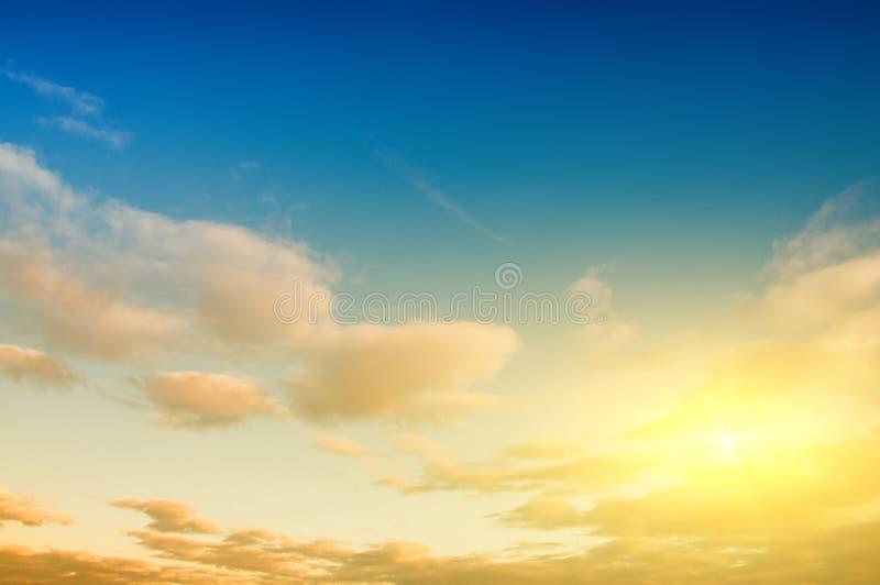 Sunrise sky background royalty free stock photo