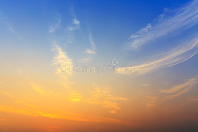 Sunrise sky. And cloud background stock photography