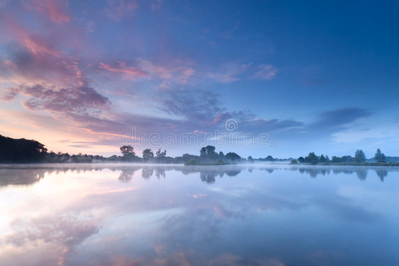 Download Sunrise Sky Reflected In River Stock Photo - Image: 43230996