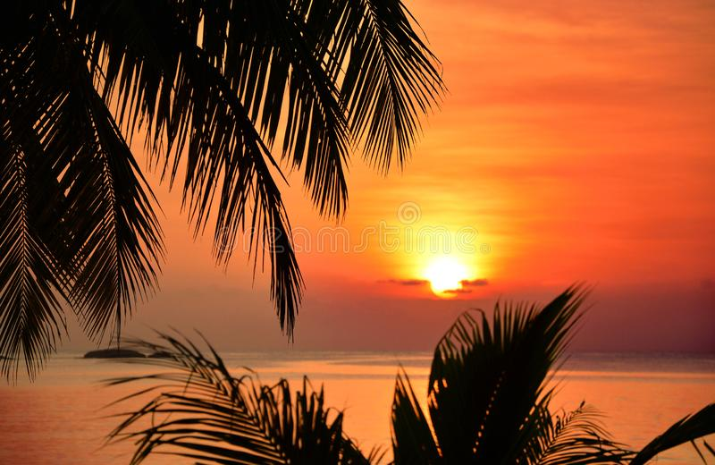 Sunrise in South China Sea. stock photography