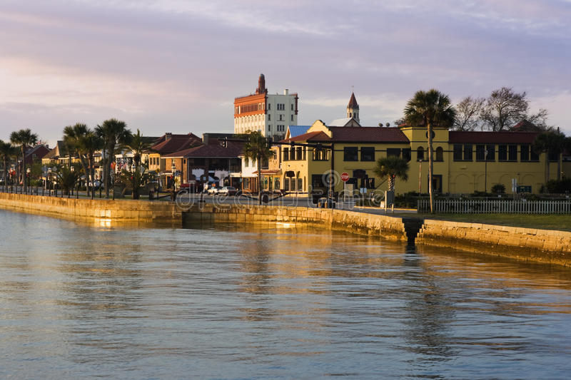 Sunrise in St. Augustine royalty free stock photos