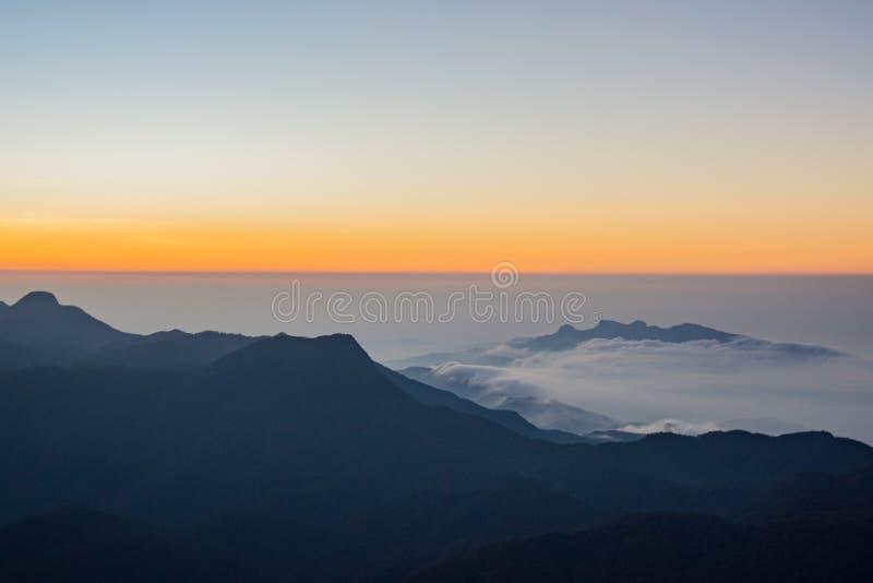 Sunrise starts in Sri Lanka. Start of the sunrise in Sri Lanka stock images