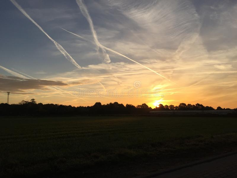Sunrise. In Straelen Germany Nordrhein-Westfalen stock images