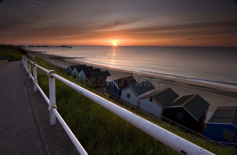Sunrise in Suffolk stock image