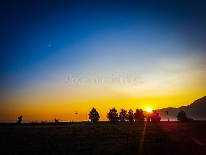 Sunrise. Start of a beautifull day royalty free stock photo