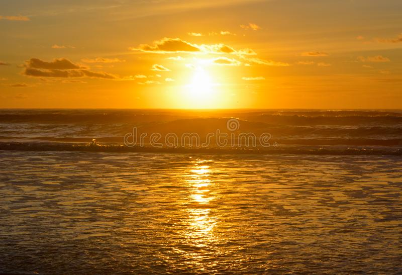 Sunrise sunset sky in the sea ocean beach outdoors nature landscape seascape vacations travel destinations relax view. Sunrise sunset sky in the sea ocean beach royalty free stock photos