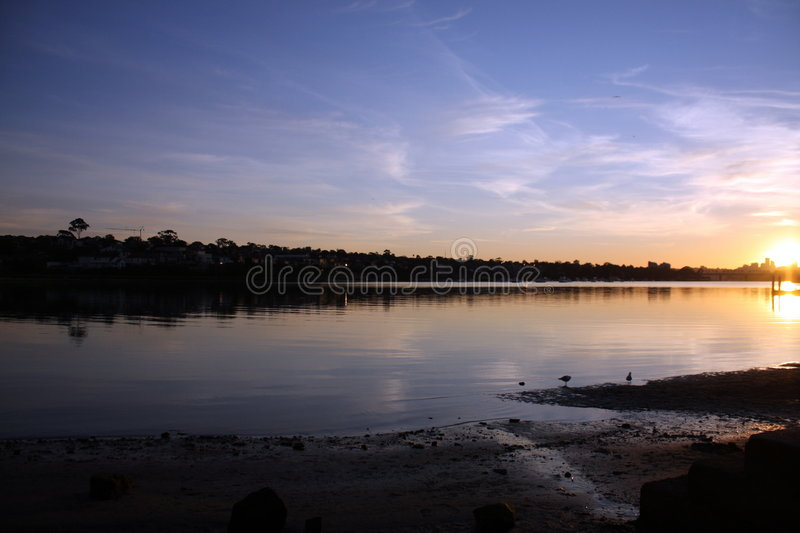 Download Sunrise in Sydney stock image. Image of peaceful, river - 7537681
