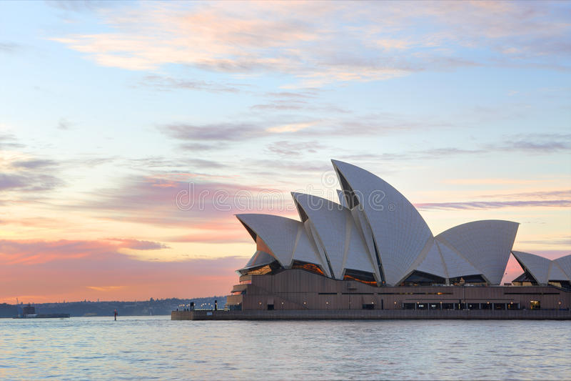Sunrise and Sydney Opera House stock photo