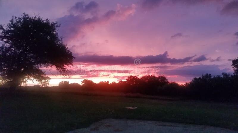 Sunrise. In Syracuse NE royalty free stock photo