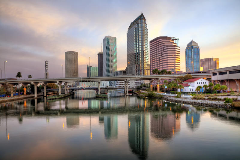 Sunrise Tampa, Florida stock photo