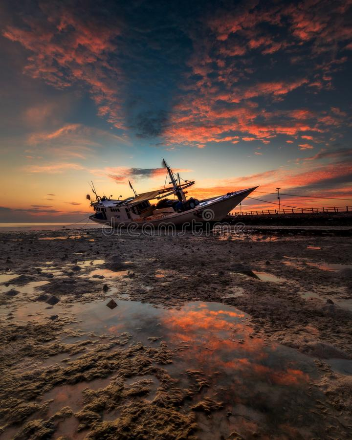 sunrise at Tanjung Bira Bulukumba stock photography