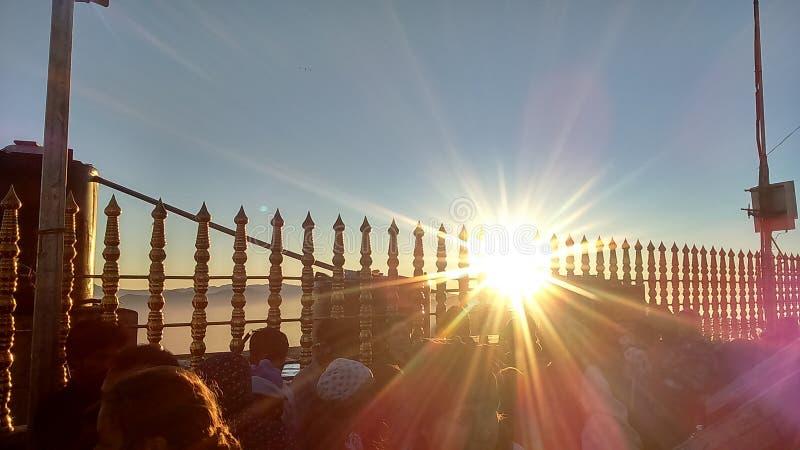 Sunrise to Sri Padaya & x28;Adam& x27;s peak& x29; stock images