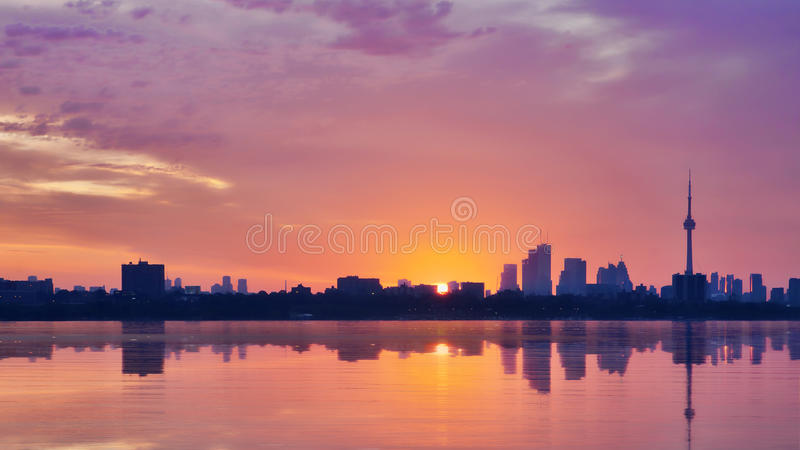 Download Sunrise in Toronto stock photo. Image of city, reflection - 21966378