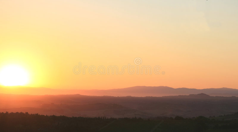 Download Sunrise in Tuscany stock image. Image of sunlight, vineyards - 3010069