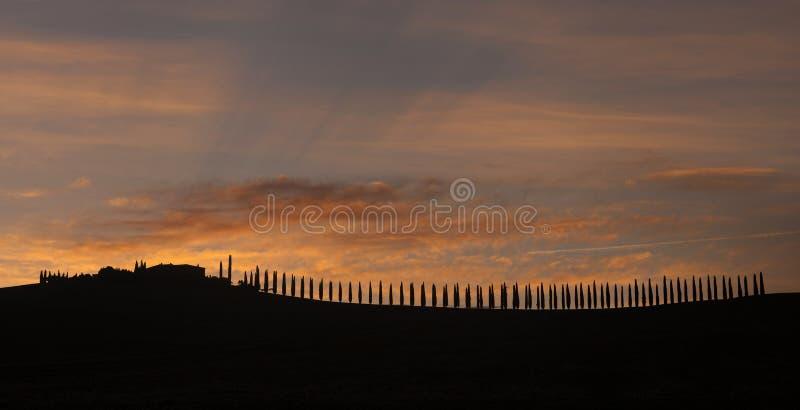 Sunrise Tuscany landscape royalty free stock photography