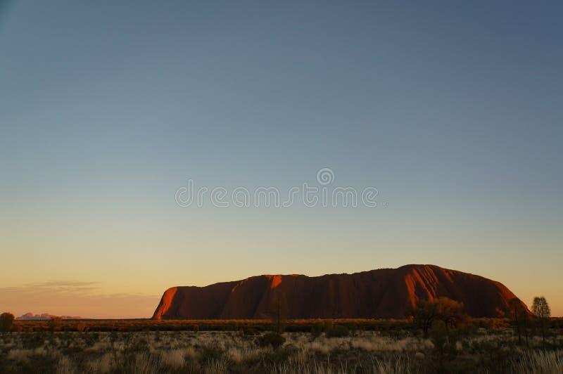 Sunrise at Uluru, ayers Rock, the Red Center of Australia, Australia stock image