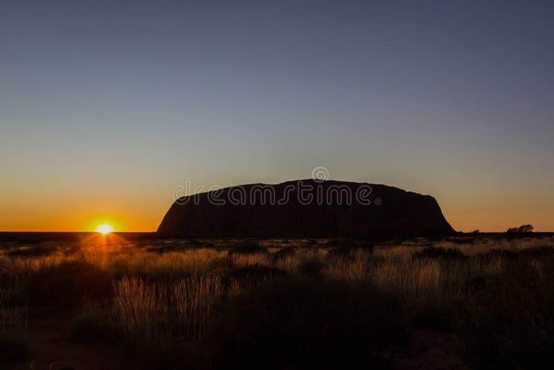 Sunrise at Uluru, ayers Rock, the Red Center of Australia, Australia stock images