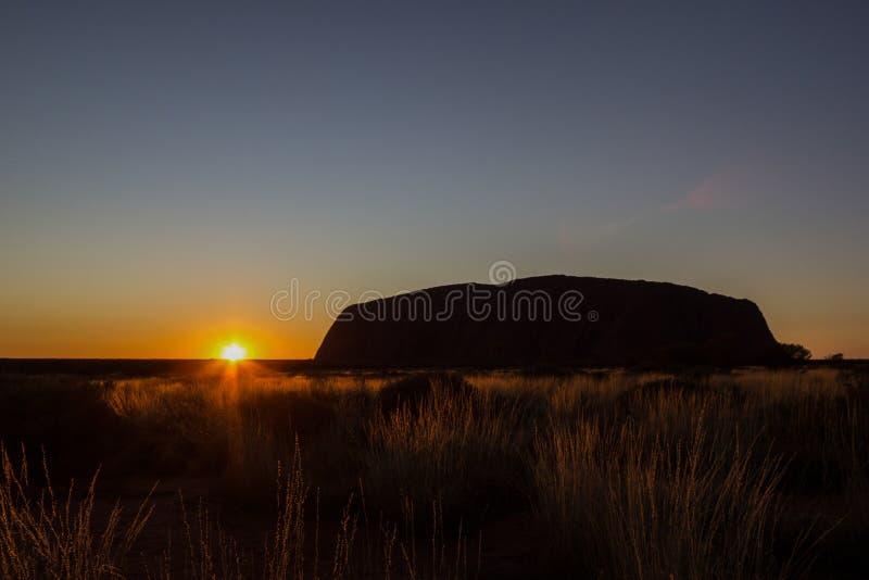 Sunrise at Uluru, ayers Rock, the Red Center of Australia, Australia stock photography