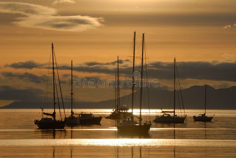 Sunrise in Ushuaia, South America, Argentina stock photos