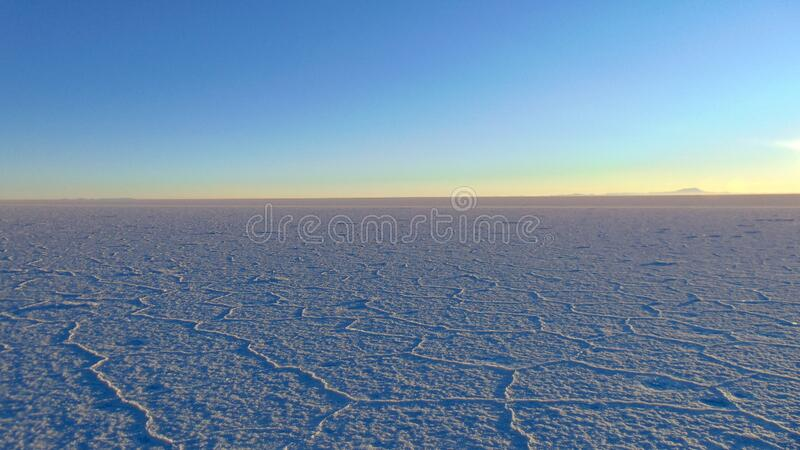 Sunrise at Uyuni salt flats bolivia stock photos